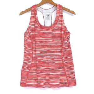 The North Face Orange Yellow Striped Yoga Tank Top